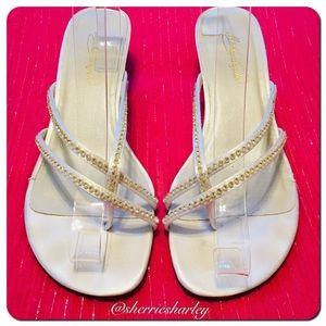 Sling Bling Sandals EUC Marly Michaelangelo Sz 9